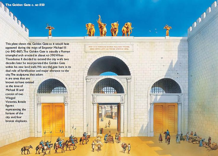 The Golden Gate (Constantinople) c. AD 850