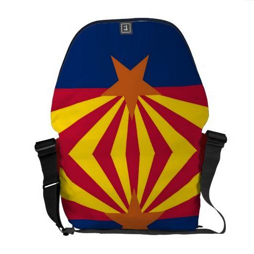Arizona State Flag Rickshaw Messenger Bag
