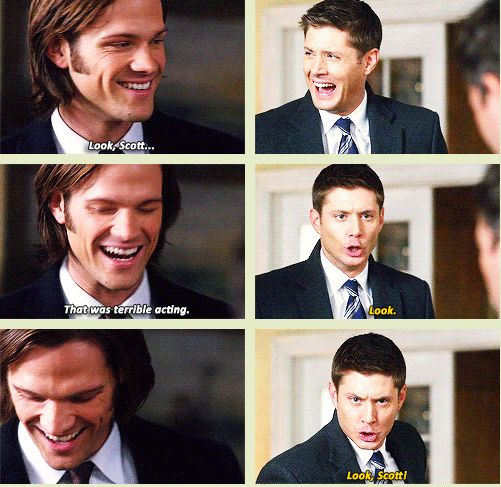 [GIFSET] one of my favorite gag reel moments!