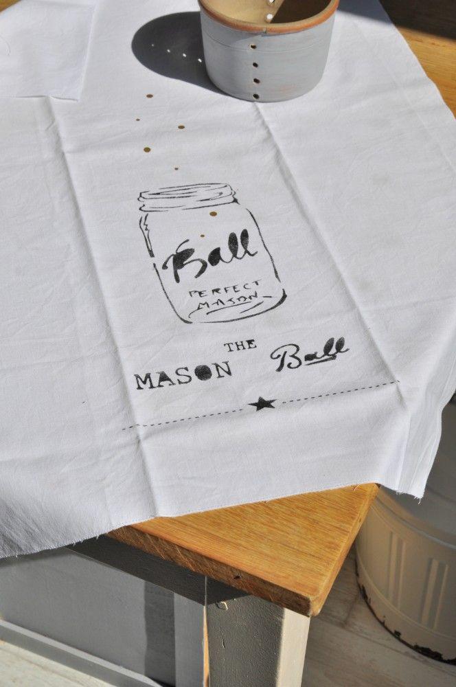 "Torchon ""mason ball"" - smile-shop.fr"
