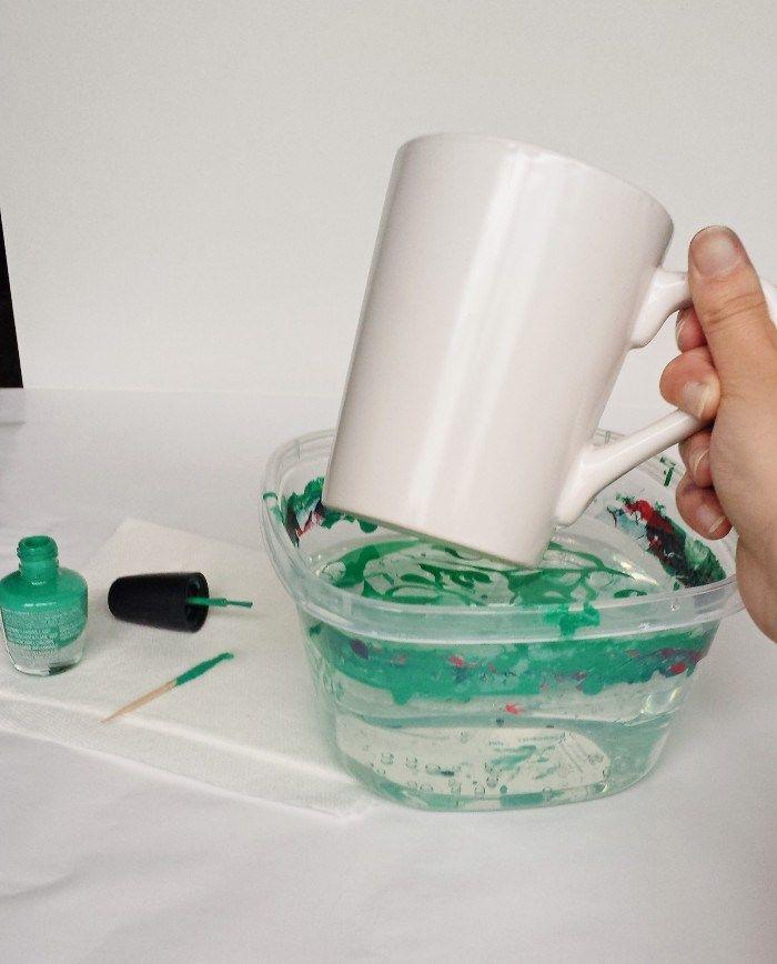 Marbled Nail Polish Mugs 6 Things I Wish I Had Known Before Making Them Nail Polish Crafts Mug Crafts Coffee Cup Crafts