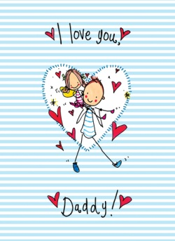 Juicy Lucy - Juicy Lucy Father's Day I Love You Daddy - Personalised Father's Day From The Kids Cards