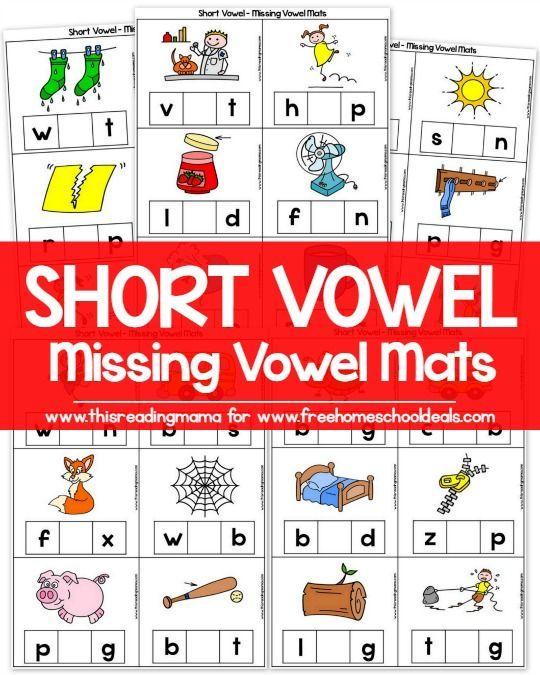 Kinder Garden: FREE SHORT VOWEL MISSING VOWEL MATS (instant Download