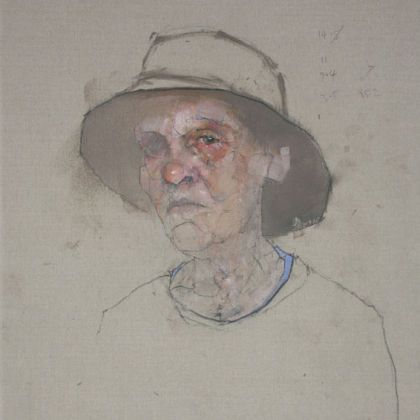 Nathan Ford Mum, Oil on canvas 28 x 20 cm