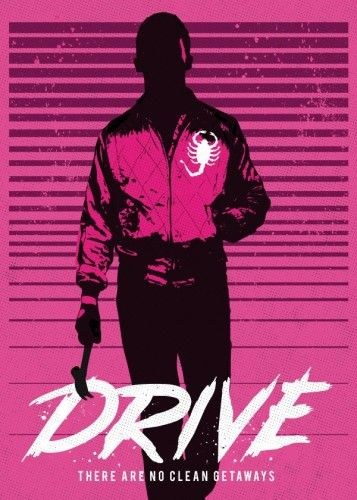 Drive art movie inspired  by GoldenPlanet Prints | metal