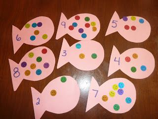 This is Fish Number Recognition. This would be perfect to incorporate with the book Rainbow Fish.