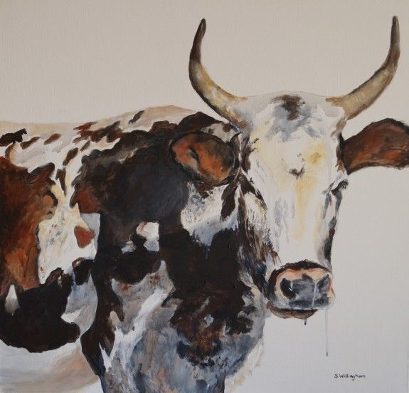 There's something magical and majestic about how cattle carry themselves and how this translates in artwork. This painting is part of a series I am currently working on. All paintings can be viewed at http://www.shellywillingham.com