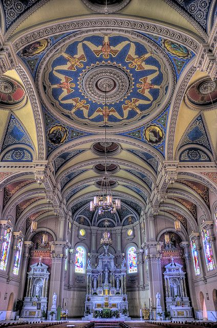 The inside of Saint Bernards Church in Akron, Ohio