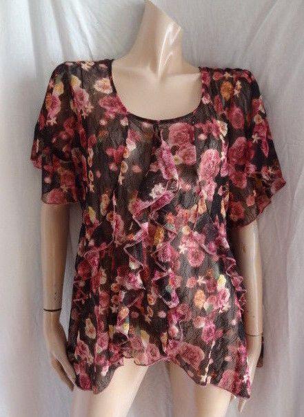 cb4040534d9 (SEP165) Size 18 PER UNA Chic pink print blouse top #fashion #clothing # shoes #accessories #womensclothing #tops (ebay link)