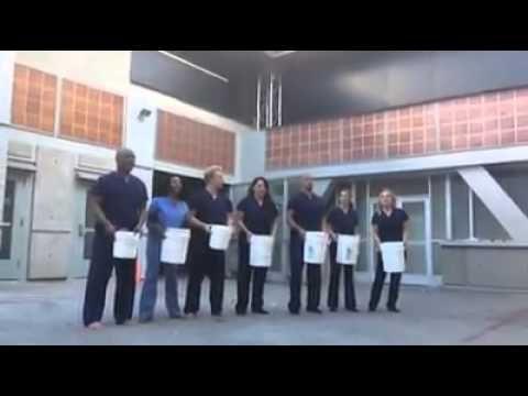 Members of Grey's Anatomy Cast do ALS Ice Bucket Challenge