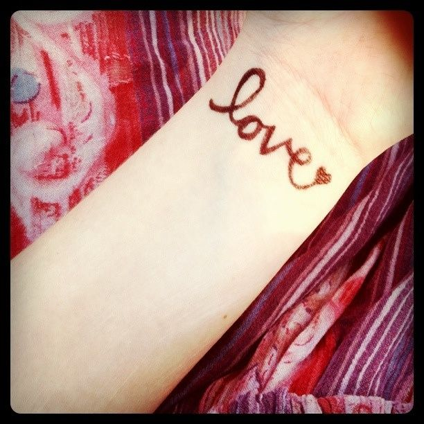 Exactly like this without the heart at the end. This one on my wrist.