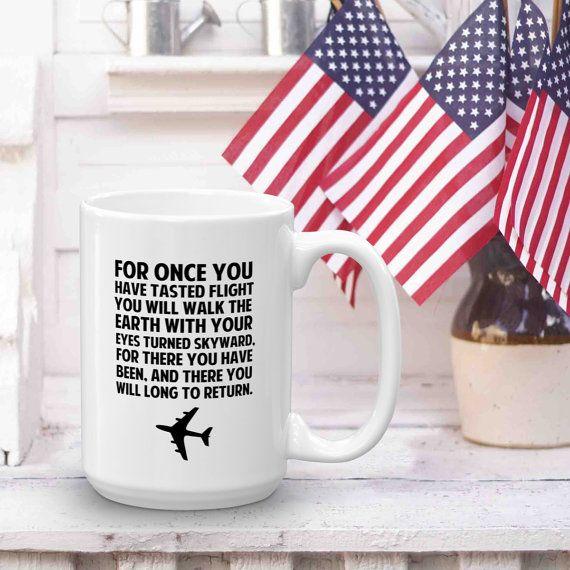 Aviation Pilot Flight Quote Coffee Mug by TheHeartAtHome on Etsy