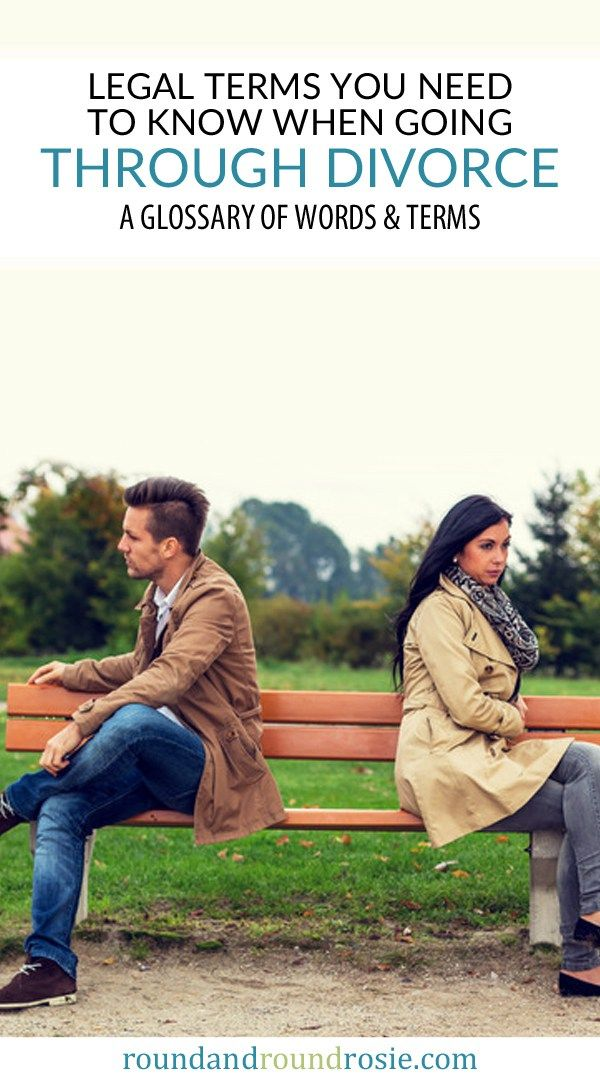 An easy to understand guide to legal terms you'll need to know in divorce | roundandroundrosie.com