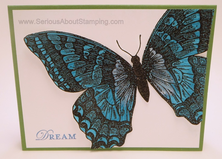 Blue Morph butterfly card by Charmaine