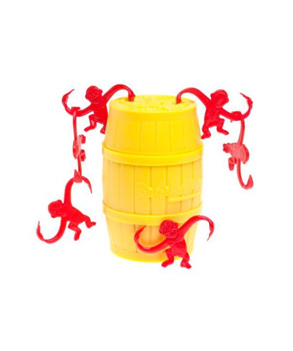The Barrel of Monkeys game popular throughout the '60s, '70s, '80s, and beyond.