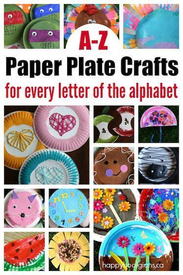 A-Z Paper plate crafts! One or more paper plate crafts for every letter of the alphabet. Easy, inexpensive ideas for home or the preschool classroom! - Happy Hooligans