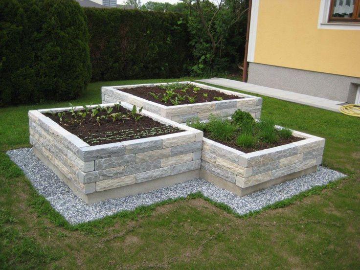 Romerkalkstein Garten Hochbeet Vorgarten Ideen