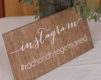 Custom Wedding Hashtag Sign Personalized by VividBlissPrintables