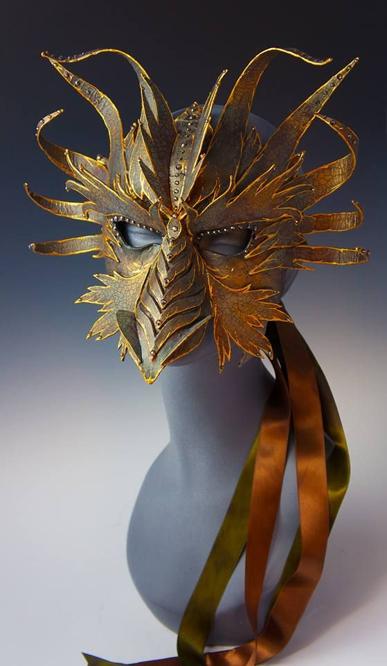 Dragon paper mask by Art of the Mask