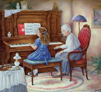 """playing paino with my grandmother is amazing. all my life she has said to me """"find your passion and don't ever give up in it""""...it took me along time to find my passion and stick with it. but i did it and she was right."""