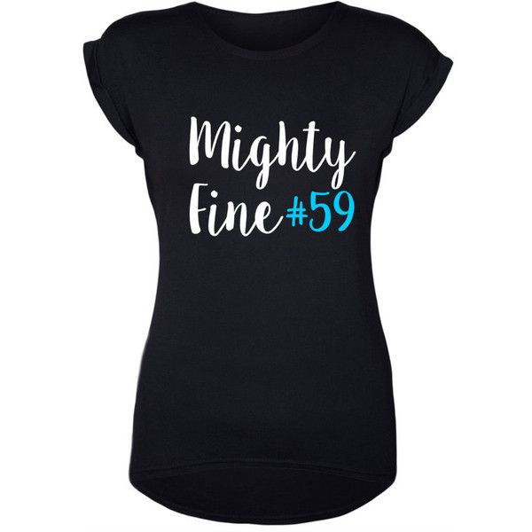 Luke Kuechly Tee Might Fine 59 Carolina Panthers Panther Nation Keep... ($23) ❤ liked on Polyvore featuring tops, t-shirts, grey and women's clothing
