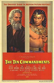 The Ten Commandments is a 1956 movie that was popular in 1957.  In our area,  for many years, now,  the main TV channels have been showing this movie on almost every religious holiday in place of one about Jesus.