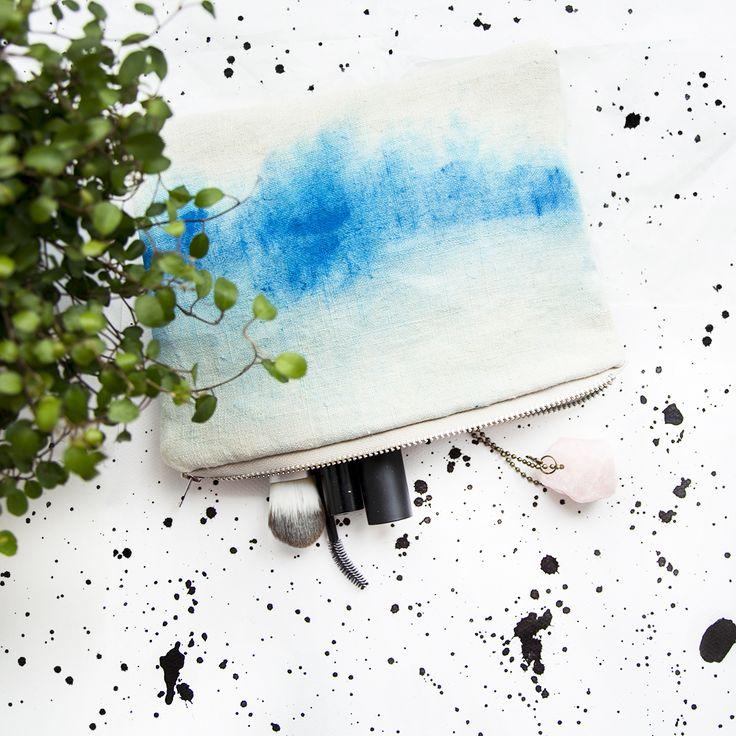 OMBRE linen pouch, mini bag - *UMi.nation