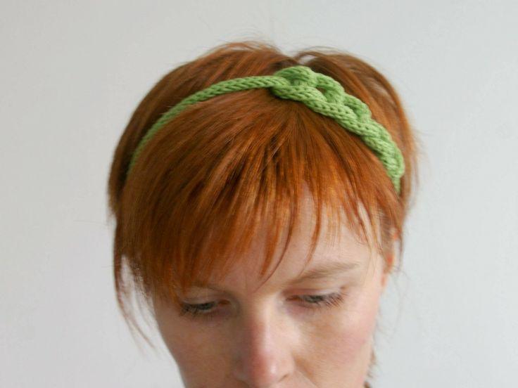 Headband Tricotin - Vert : Accessoires coiffure par tangerinette