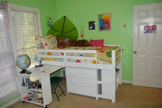 Kids Furniture Set with Twin Loft Bed, Desk, Dresser & Bookcase in One - Custom Kids Furniture