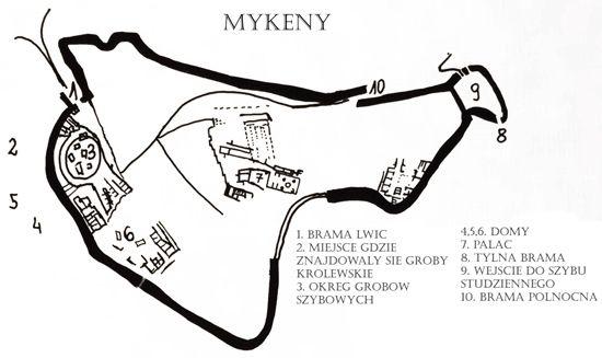 Grecja- Mykeny- plan miasta