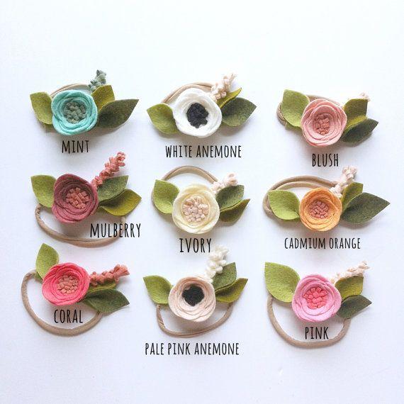 single flower bands // Fancy Free Finery // Felt Flower Headband