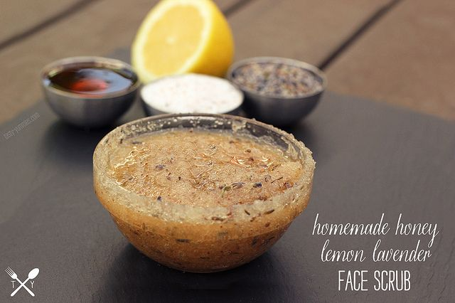 Homemade Honey Lemon Lavender Face Scrub - Tasty Yummies