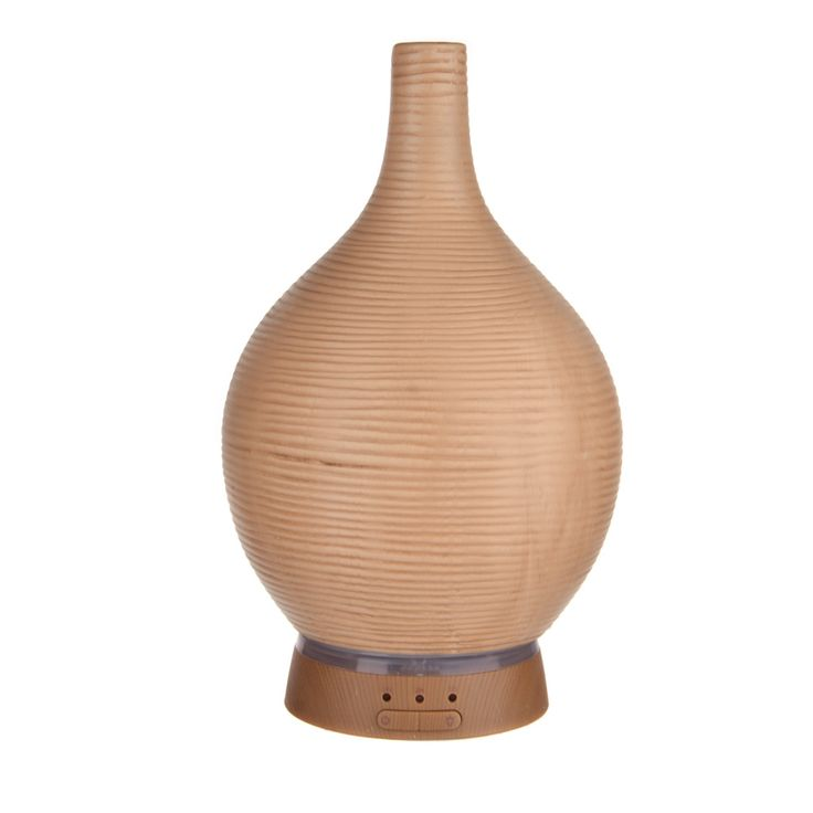 OIL DIFFUSER Ultrasonic Bamboo Glass on Wood Base 14.5x22.5cm | Karma Living