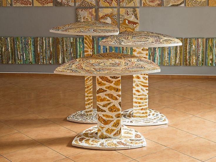 Tables Athena's shields - Irena Lisiewicz. Ornament: abstract, organic, #tables, #design, #art, #original, #abstract, #acrylic #painting, #artobject, #sculpulture, #furniture, #handmade, #interiordesign, #modern, #decorativeart, #exclusive, #luxurious, #luxory, #Atena, #IrenaLisiewicz,