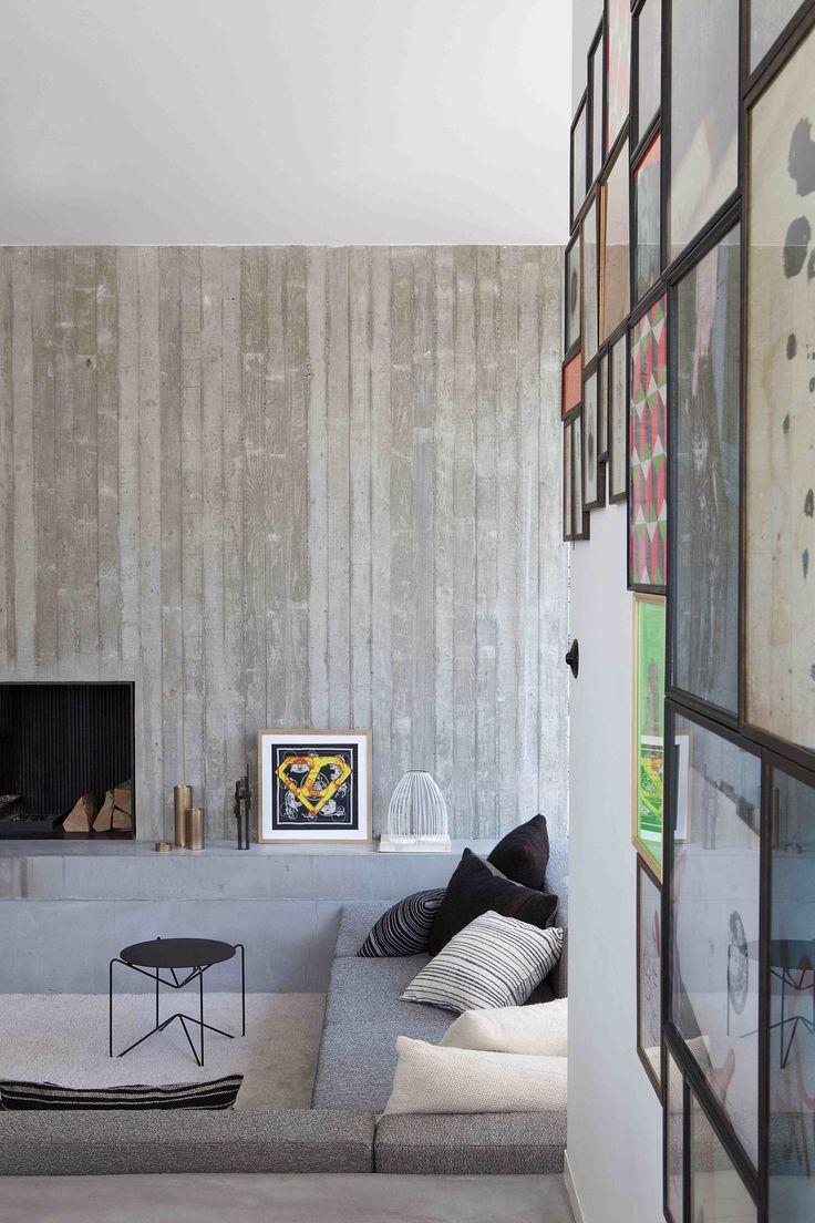 concrete house designed by the architect Marc Corbiau
