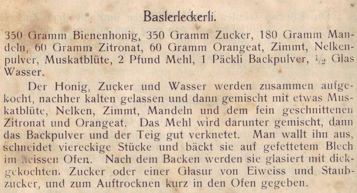 Basler Leckerli 1927                                                                                                                                                                                 More