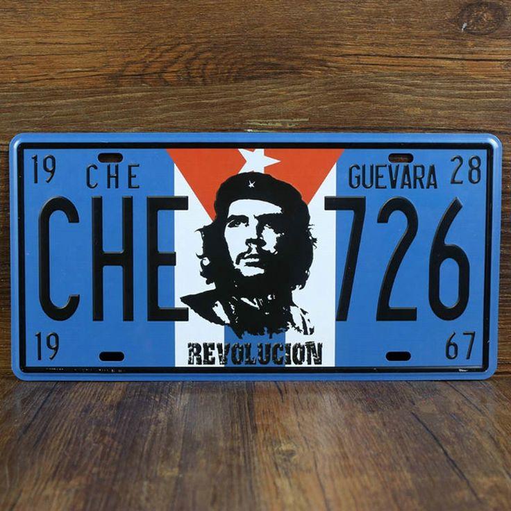 1928 Че Гевара ЧЕ 726 Революция Старинных Автомобилей Номерного знака 15*30 Металл Ремесло для Главная Бар Паб Стены искусство Плаката