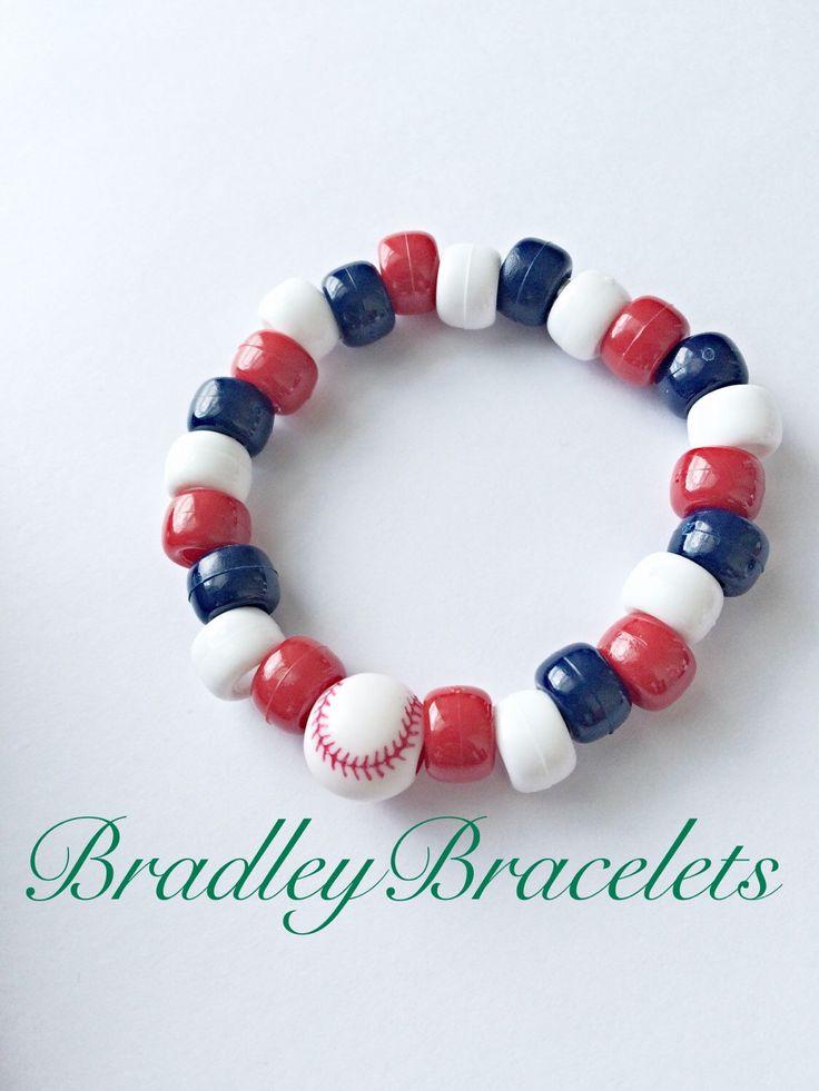 Baseball Party Favor Bracelets~ Kids Baseball Party Favor Bracelets, Red White Blue Bracelets, Baseball Birthday Party by BradleyAccessories on Etsy https://www.etsy.com/listing/453520948/baseball-party-favor-bracelets-kids