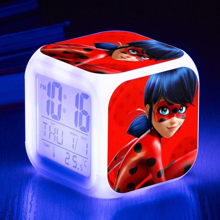 Radio réveil digital Miraculous Dessin LadyBug Radio réveil digital Miraculous Dessin LadyBug  #radioreveil #ladybug #miraculous #aliexpress