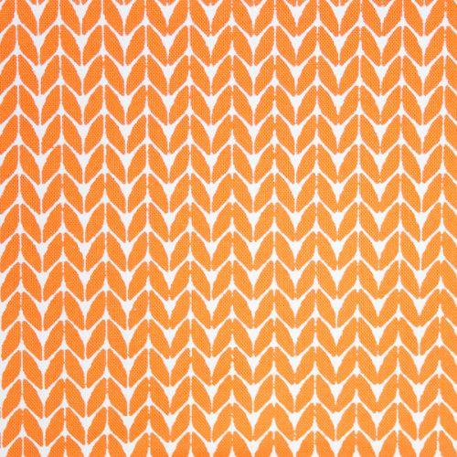 <!-- 005 -->Hand Printed FQ Papaya