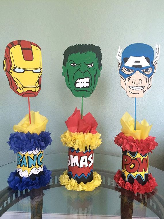 Hey, I found this really awesome Etsy listing at https://www.etsy.com/listing/232434157/avengers-centerpieces