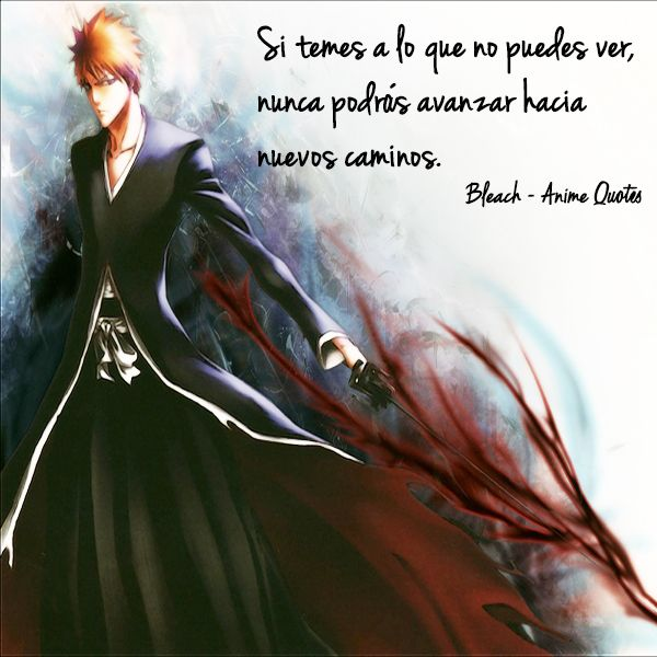 Una frase de Kurosaki Ichigo, protagonista del famoso manga y serie de anime Bleach. Creemos firmemente en aplicar su mensaje para superar nuestros propios límites y soprendernos / Quote by Kurosaki Ichigo, main character of the outrageous manga and anime series Bleach. We firmly believe on this quote's message and we apply it in order to overcome our own limits and surprise ourselves.