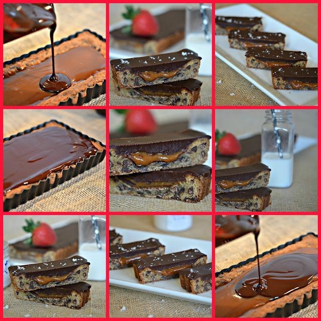 ... : CHOCOLATE GLAZED, SALTED CARAMEL & CHOCOLATE CHIP COOKIE TART