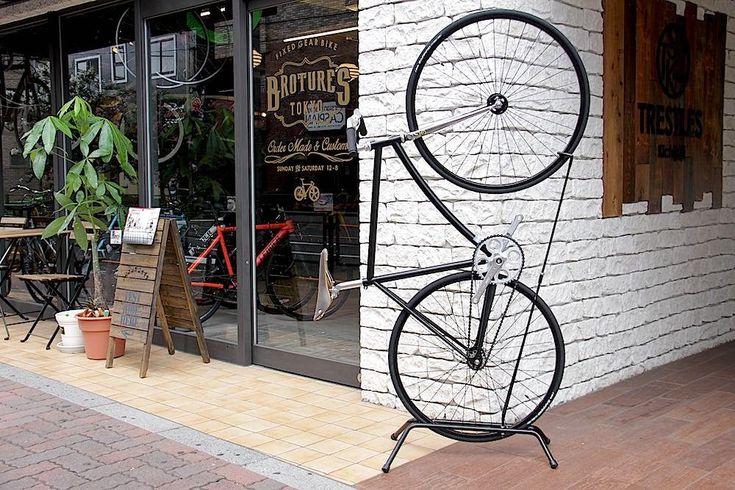 縦型 / 縦置きバイクスタンドー室内外兼用