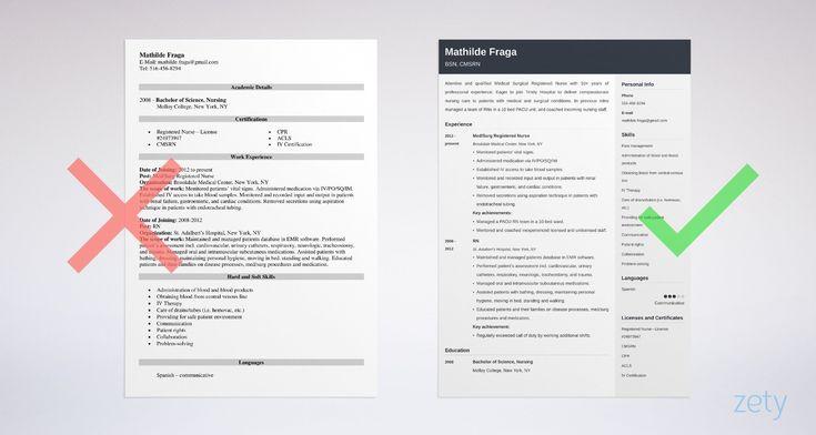 Med surg nurse resume awesome registered nurse med surg