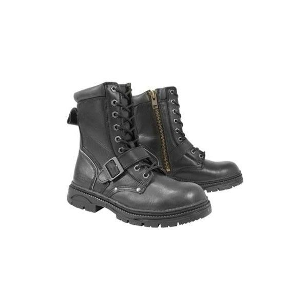 Xelement Men's Lace and Buckle Advanced Motorcycle Boots ($90) ❤ liked on Polyvore featuring men's fashion, men's shoes, men's boots, men's work boots, shoes, mens low cut boots, mens biker boots, mens boots, mens engineer boots and mens lace up boots