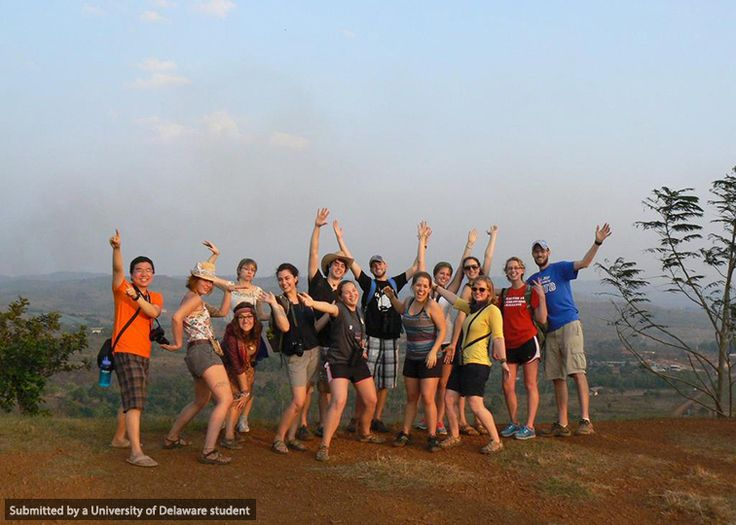 """""""We felt victorious after climbing this steep mountain in Sen Monorom, Cambodia! #UDabroad""""--@Kerry Aar Phillips"""