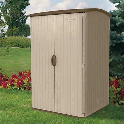 Vertical Storage Shed We Offer The Very Popular Vertical Storage Shed That  Is Produced By Suncast. This Tall, Durable Plastic Storage Shed Has A Small  ...