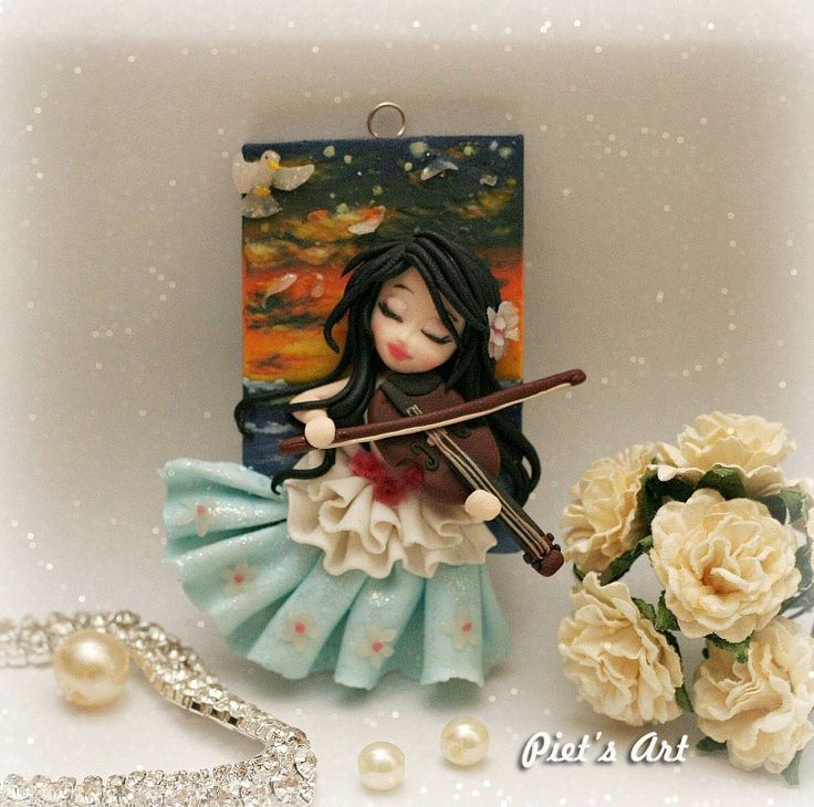 Playing violin in the evening