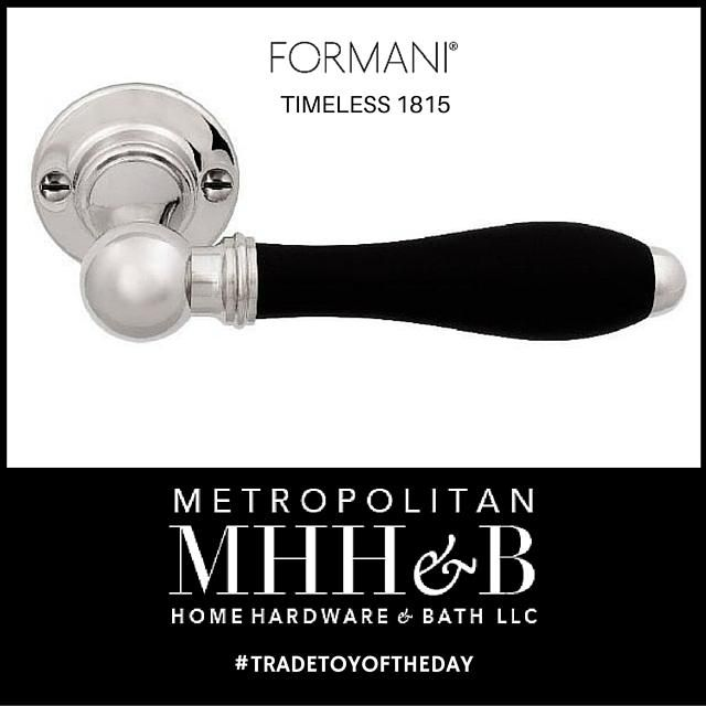 Formani Timeless 1815 Door Lever in Ebony and Nickel. A modern take on hardware designs from the Beidermeier Period (1815-1848)
